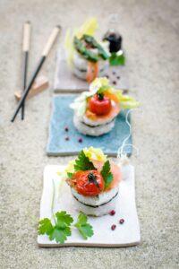 sushi a base de riz