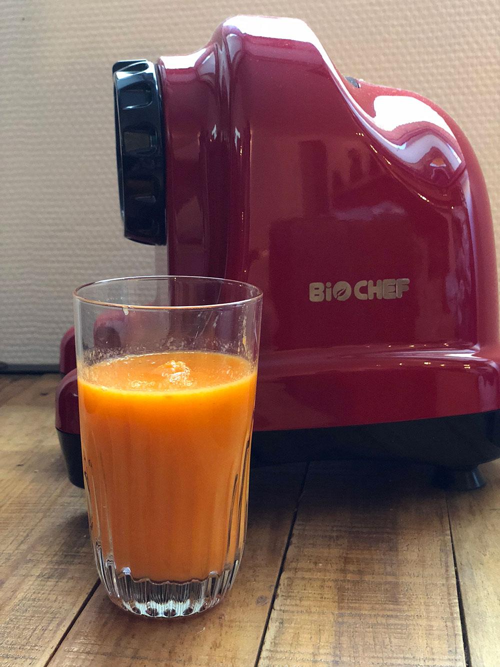 jus de fruits frais avec extracteur biochef
