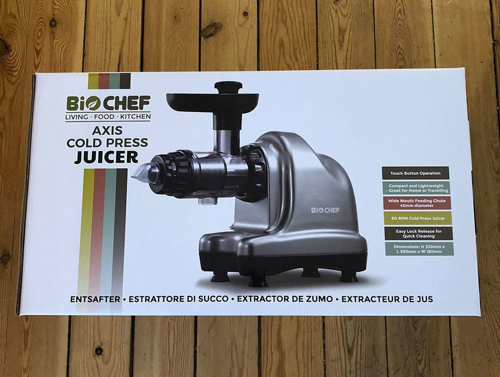 unboxing biochef axis cold press