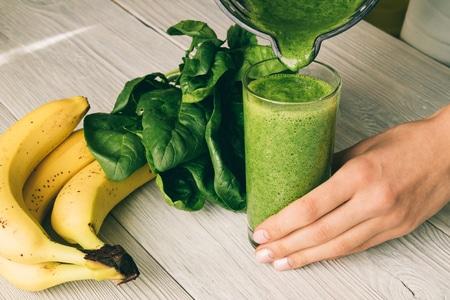 smoothies vegan épinard banane