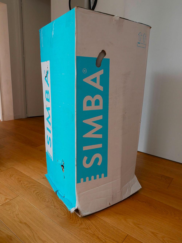 unboxing matelas simba