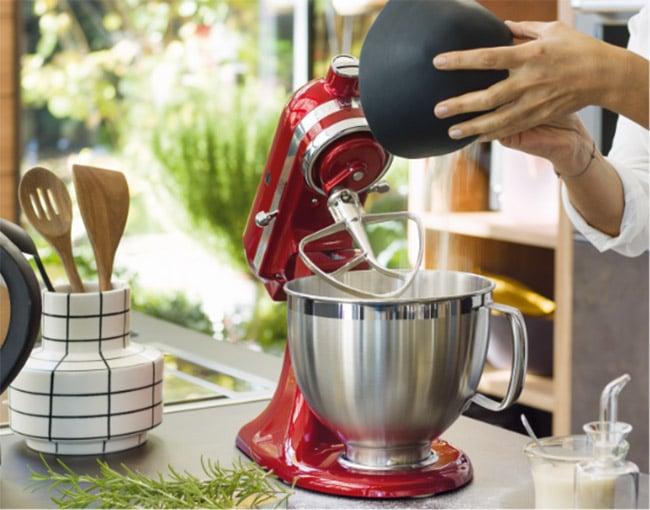 préparation avec kitchenaid artisan