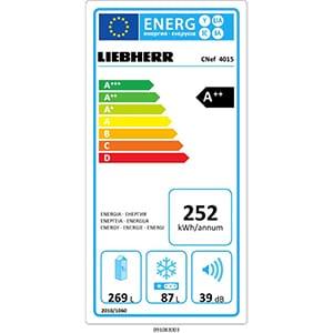 liebherr consommation énergétique