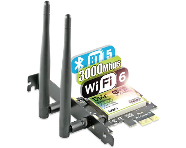 Ubit PCI-E AX WiFi-6